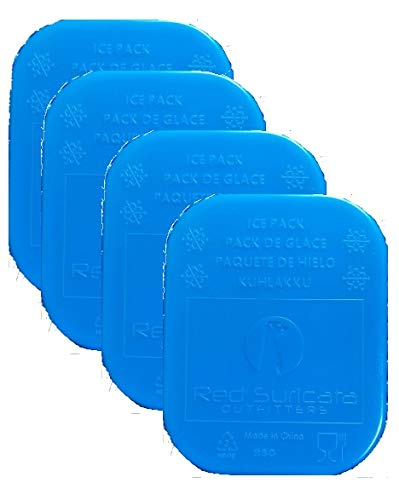 b6e2dd7d5524 Red Suricata Cooler Ice Packs - Set of 4 - Slim Thin Cool Ice Bricks for  Lunch Boxes and Bags (Blue)
