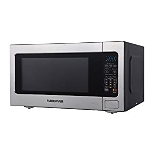 Farberware Professional FMO22ABTBKA 2.2 Cubic Foot 1200 Watt Microwave Oven with Smart Sensor Cooking, Stainless Steel
