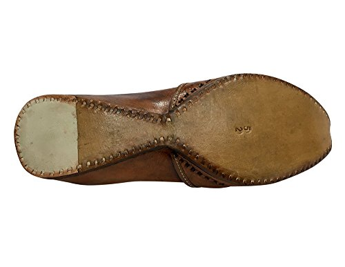Ethnic Mojari Style Punjabi Maharaja n Khussa Shoes Mens Old Jutti Hobo Look Brown Step 7xA5wvzz