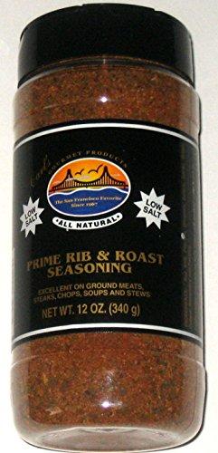 Carl's Gourmet Prime Rib & Roast LOW SALT Seasoning - 12 Oz (1)