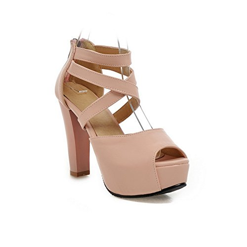 BalaMasa Womens Dress Cold Lining Solid Urethane Sandals ASL05201 Pink 6KW035