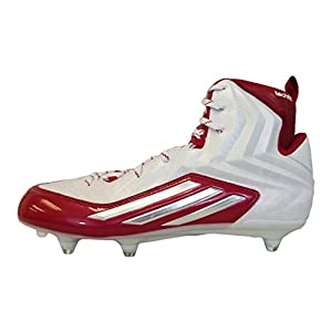 Adidas Crazyquick 2.0 High D NCAA Mens Football Cleat 13.5 White-Platinum-Power Red