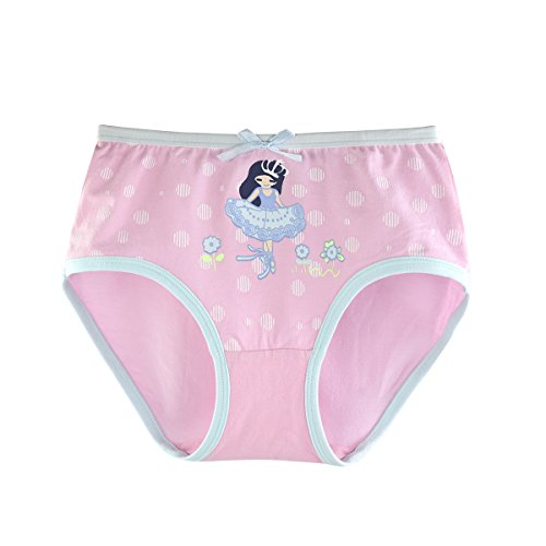 slaixiu Cotton Girls Underwear Briefs Cute Polkadot Cartoon Kids Panties 6-Pack(UW234-150) by slaixiu (Image #5)