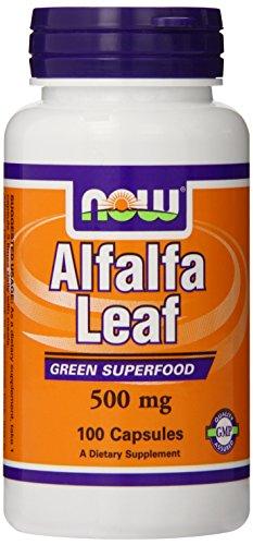 Now Foods feuilles de luzerne, 500 mg, 100 Capsules