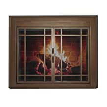 Pleasant Hearth EN-5501 Enfield Glass Fire Screen, Medium, Burnished Bronze