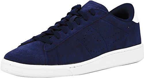 Nike Mens Tennis Classico In Pelle Moda Sneaker Blu Notte / Blu Notte Bianco