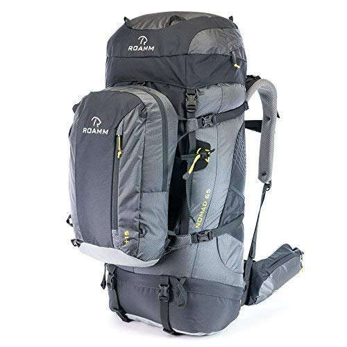 Roamm Nomad 65 +15 Backpack - 80L Liter Internal Frame Pack with Detachable Daypack - Best Bag for Camping, Hiking, Backpacking, and Travel - Men and Women [並行輸入品]   B07R3XXS83