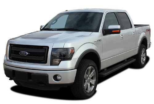 FORCE HOOD - SOLID COLOR : 2009-2014 Ford F-150 Series Wide Center Hood