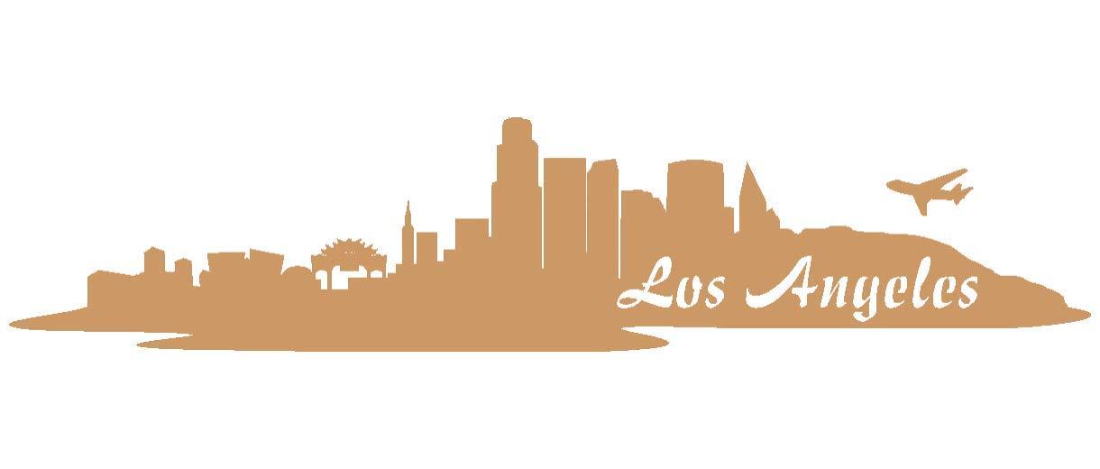 Samunshi® Aufkleber Los Angeles Skyline Autoaufkleber LA LA LA in 9 Größen und 25 Farben (180x39cm kupfermetalleffekt) B00T4DKC16 | Online einkaufen  d68c0e