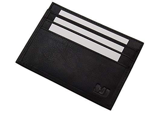 4色のエクストラフラットXLレザークレジットカードケース(ブラック)   B00DBTQQEG