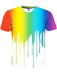 Unisex Stylish Casual Design 3D Printed Short Sleeve T Shirts Tees