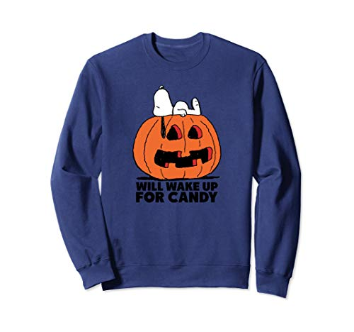 Peanuts Halloween Snoopy Wake For Candy Pullover Sweatshirt ()