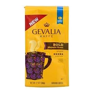 Gevalia Kaffe, Ground Coffee, Bold Majestic Roast, 12oz Bag (Pack of 2)