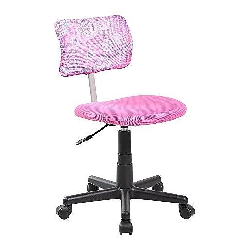 Attractive EuroStile Kids Pink Mid Back Home Task Desk Chair 8001FL