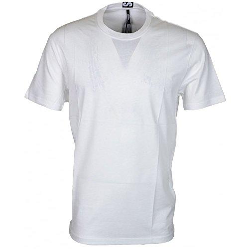 Versace Versus BU90432 Plain White Extra Long T-Shirt XL White
