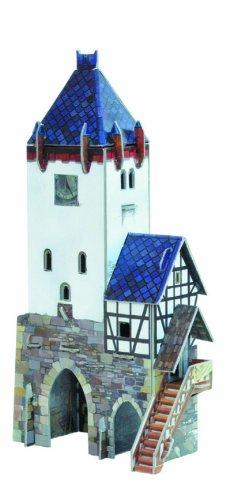 Keranova Keranova201 Scala 1 87 15 X 8 X 27 Cm Intelligente Carta Medievale Citt Puzzle 3d Torre Di Guardia