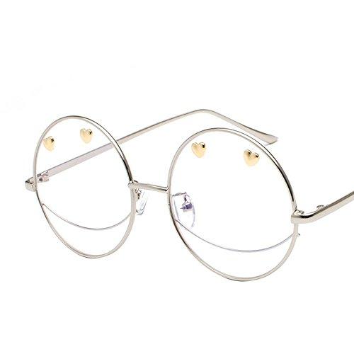 Aoligei Les gens de lunettes de soleil couple gelée lunettes de soleil couleur verres plats personnalité smiley D