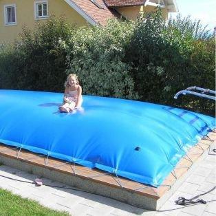 Aufblasbare Abdeckung Rechteck 800 x 400 cm für Pool und Schwimmbad ...