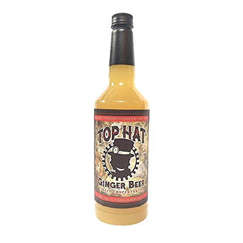 Top Hat Craft Ginger Beer Syrup - 32oz btl (MAKES 32 GINGER BEERS) SODASTREAM COCKTAIL MIX - Ginger Ale Flavor