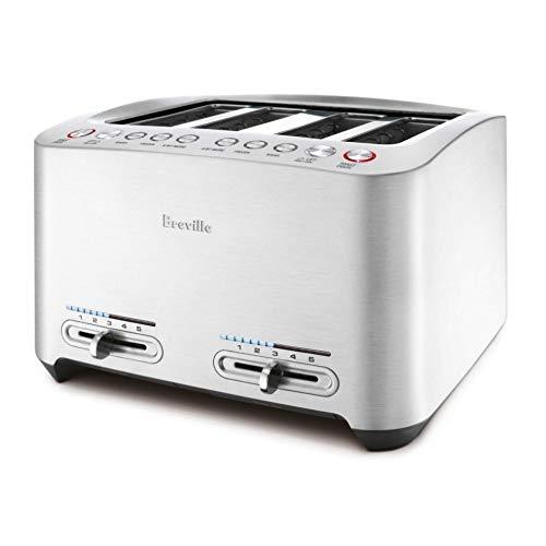 Breville BTA840XL Die-Cast 4-Slice Extra-Wide One Touch Smart Toaster