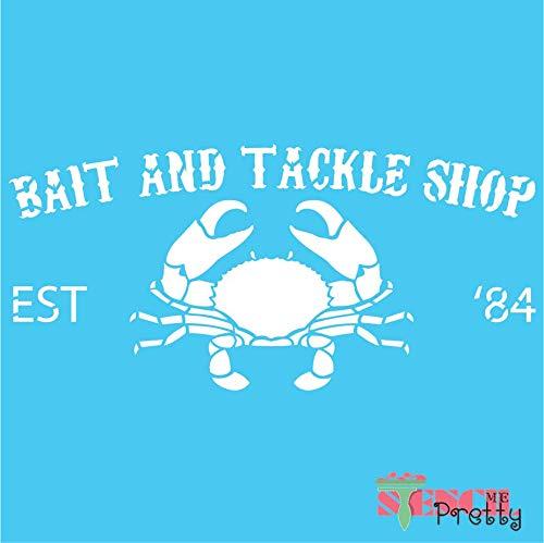 (Nautical Bait & Tackle Shop Crab DIY Stencil Sign - S (14