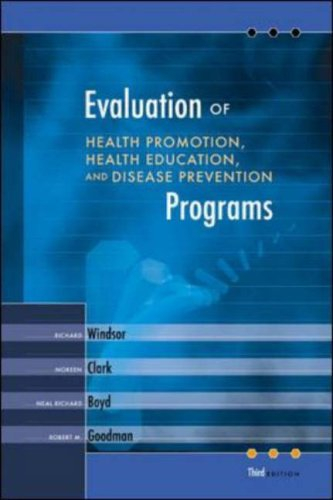Evaluation of Health Promotion, Health Education, and Disease Prevention Programs with PowerWeb Bind-in Passcard