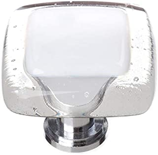 product image for Sietto K-701-PC Reflective 1-1/4 Inch Square Cabinet Knob