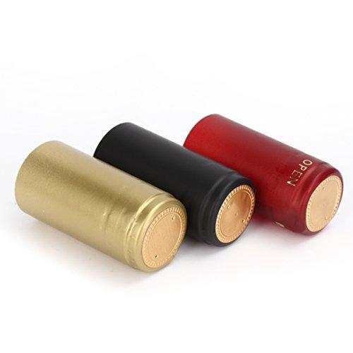 Vivona Hardware & Accessories 100Pcs Heat Shrink Cap PVC Tear Tape Wine Bottle Seal Ring Cover - (Color: Gold) by Vivona (Image #8)