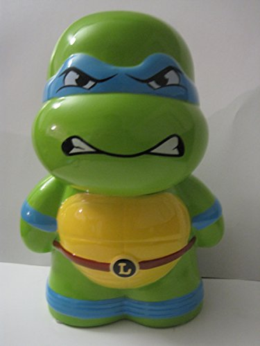 Teenage Mutant Ninja Turtles Leonardo Ceramic Piggy Bank, Leo Coin Bank, Tmnt Coin Deposit - Integral Ceramic