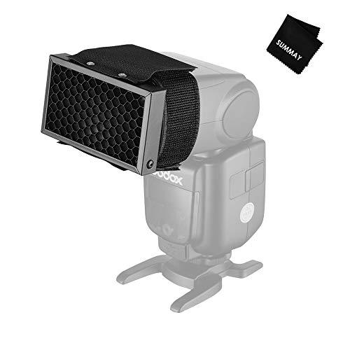 Flash Honeycomb Grid Spot Filter for Sony Canon Nikon Fujifilm Olympus Godox Neewer Camera Flash Speedlight Flash Gun (Universal Design) (Grid Spot)