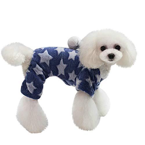 Hpapadks Pet Coat,Pet Winter Clothes Puppy Dog Cat Coat Dress Costume Star Pattern Pet Dog Coat,Pet Clothes for Small Dogs]()