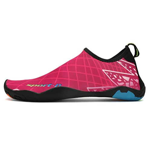 Socks Pink1 Womens Swim Shoes Shoes ASLISA On Quick Beach Pool Aqua Mens Water Slip Yoga for Dry Barefoot River Oq5XUwpx