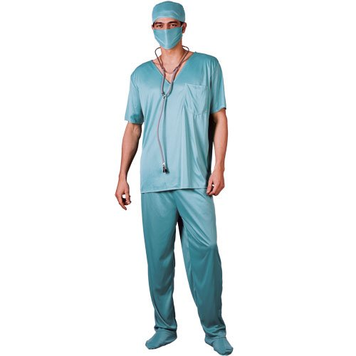 Wicked Costumes Er Surgeon Mens Hospital Doctor Fancy Dress Costume M ()