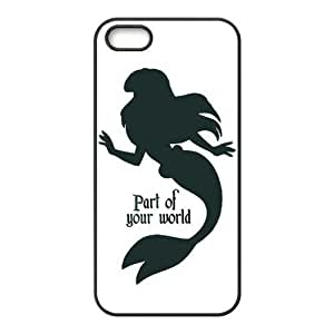 Protective PC PC Coated Phone Case for iPhone 5S / iPhone 5 - Mermaid