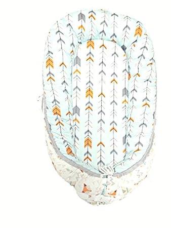 PinkBaby Tumbona portátil para recién nacido, 100% algodón ...