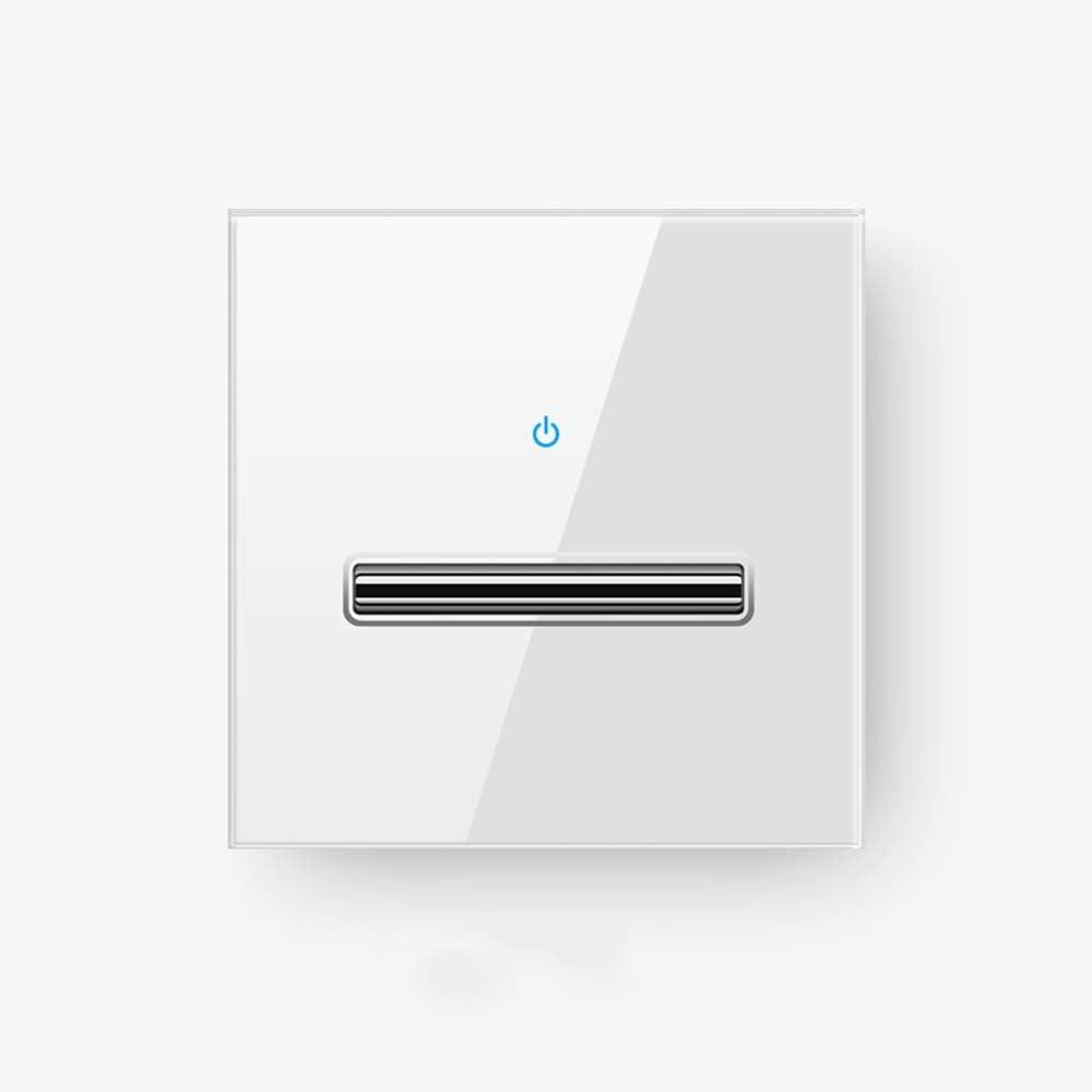 Ploutne Retro blanco de la reconexión automática del interruptor de palanca templado Cristal Estilo Nórdico de interruptor de pared interior del accesorio ligero simple o doble del control de interrup