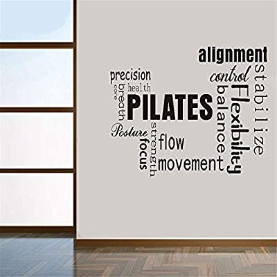 Pegatinas De Pared Frases Wall Decal Quote Pilates Words