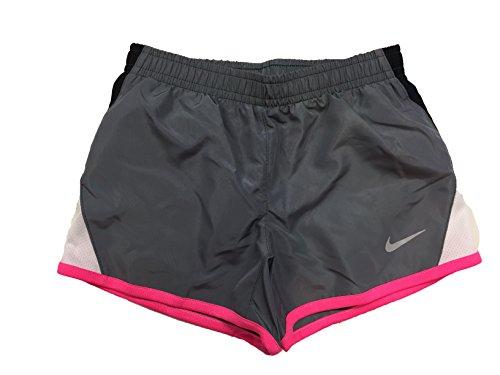 Nike Jenter Tørre Tempo Kjører Shorts Kjøle Grå (262139-478) / Svart /