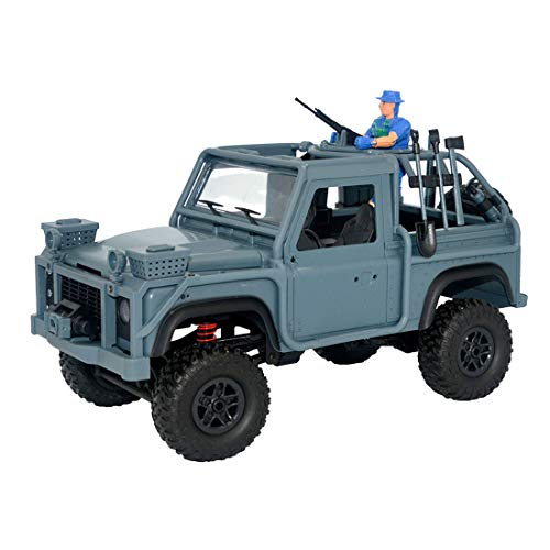 Freeby MN-96 RSOV 1/12 2.4G Remote Control 4WD Drive Cavalry Jeep Vehicle with LED Light RTR RC Car,Shipped from The US (Dark Blue, 35 X 16.5 X 23cm)