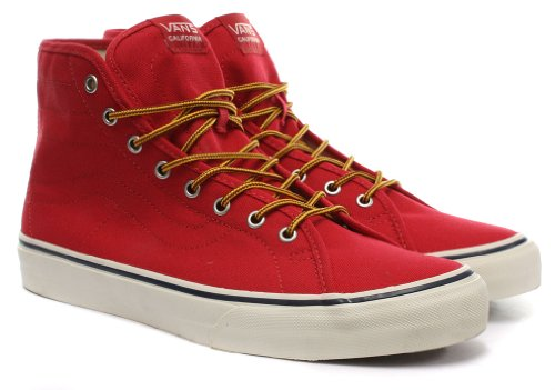 Vans Sk8-Hi Binding CA Unisex Skateschuhe / Sneakers, Rot (10 Oz Canvas) Red