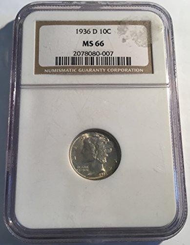 1936 D Mercury Dime Dime MS66 NGC