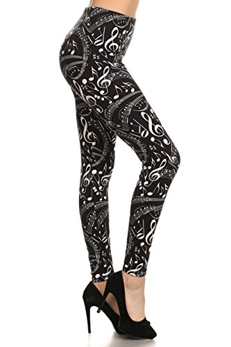 R550-PLUS Music in Me Print Fashion Leggings -