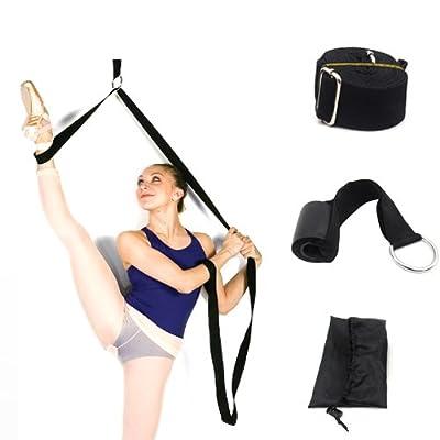 Ballet jambe civière Pied Bande élastique étirement d'exercice Sangles d'entraînement Idéal pour filles Femme de danse danseuse et Flexibilité de gymnastique Yoga pom-pom girl Cheerlea