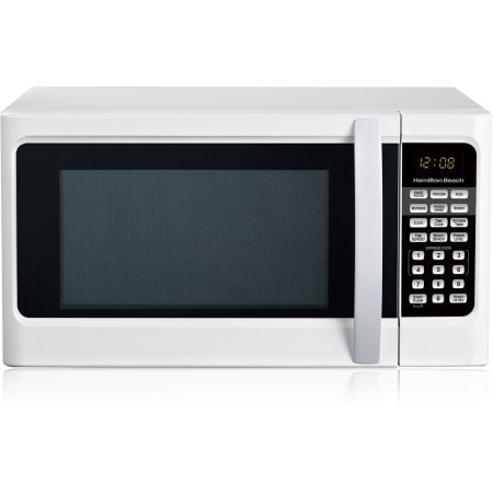Hamilton Beach 1.1 cu ft Digital White Microwave Oven, Convenience Cooking Controls