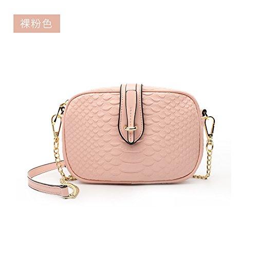 GUANGMING77 Borsetta Catena Mini Borsa Piccola Borsa A Tracolla Messenger Bag,Femmina Bianco Di Riso Bare Pink