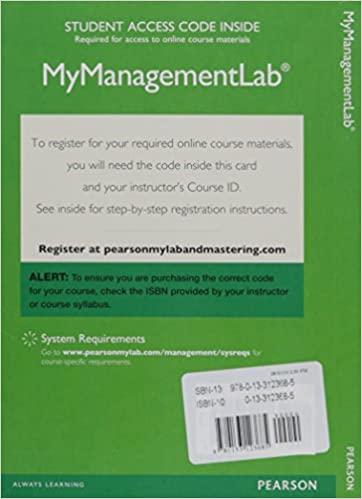 Amazon Com 2014 Mylab Management With Pearson Etext Standalone
