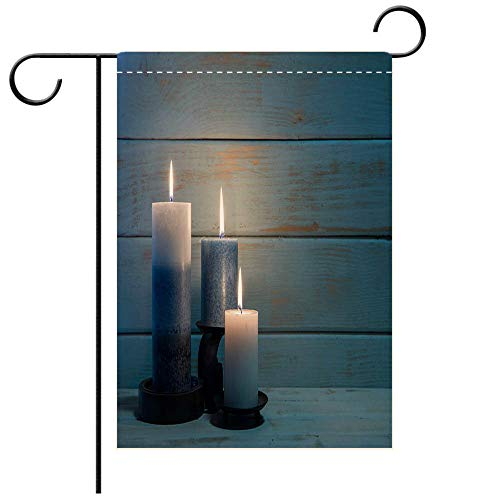 BEICICI Custom Personalized Garden Flag Outdoor Flag Aromatherapy Candles for Christmas and Hannukah Background Decorative Deck, Patio, Porch, Balcony Backyard, Garden or Lawn]()