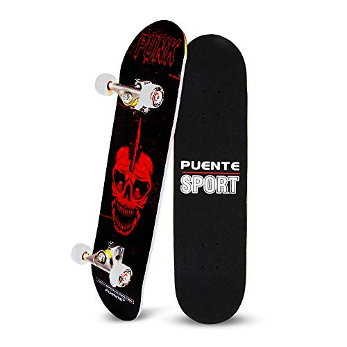 YF YOUFU Skateboard Complete, 31 Inch Pro Skateboards, Tricks Skate Board for Beginners- 7 Layer Canadian Maple Wood Double Kick Concave Skateboards - Maple Complete Skateboard