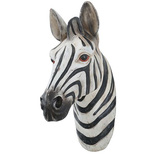 Modern Home Safari Jungle Animal Wall Plaques - Zebra
