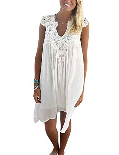 International Darter Elegant Damen Sommerkleid Strandkleid ...